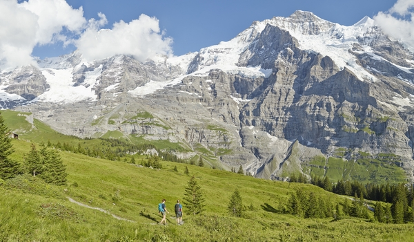 Hiking paradise in front of Eiger, Mönch and Jungfrau
