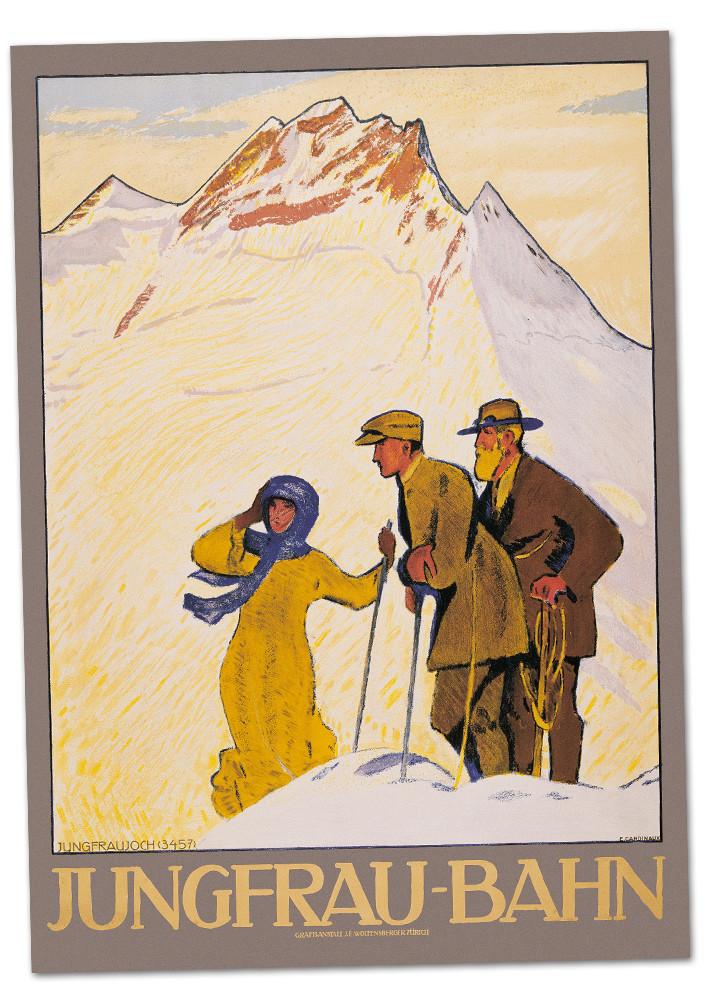 Nostalgic Poster Jungfraubahn - Hikers A2