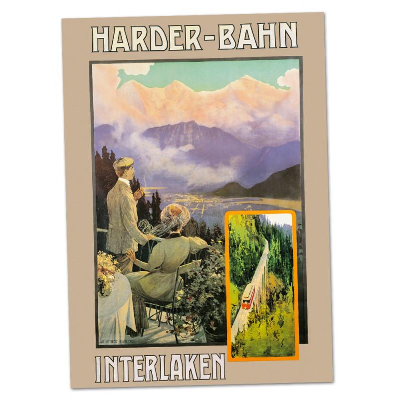 Nostalgic Poster Harderbahn A2