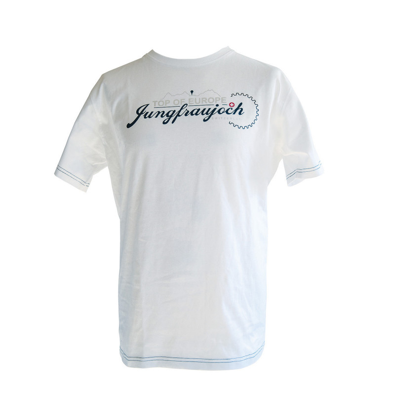 T-Shirt Jungfraujoch Official Collection, men, white/silver