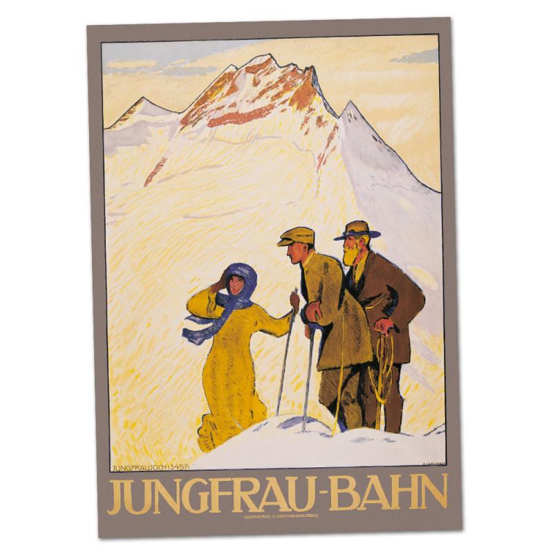 Nostalgieposter Jungfraubahn - Wanderer A2