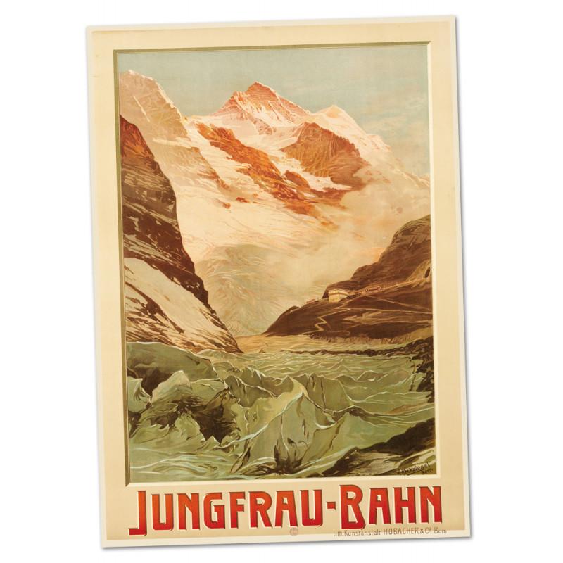 Nostalgieposter Jungfraubahn - Jungfrau A2