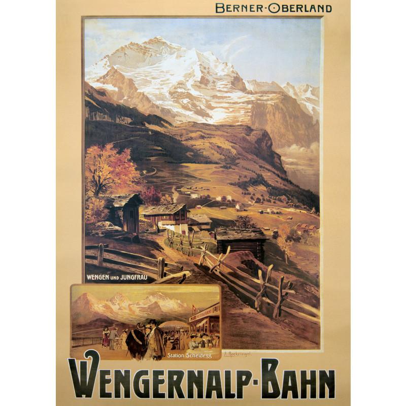 Nostalgieposter Wengernalpbahn