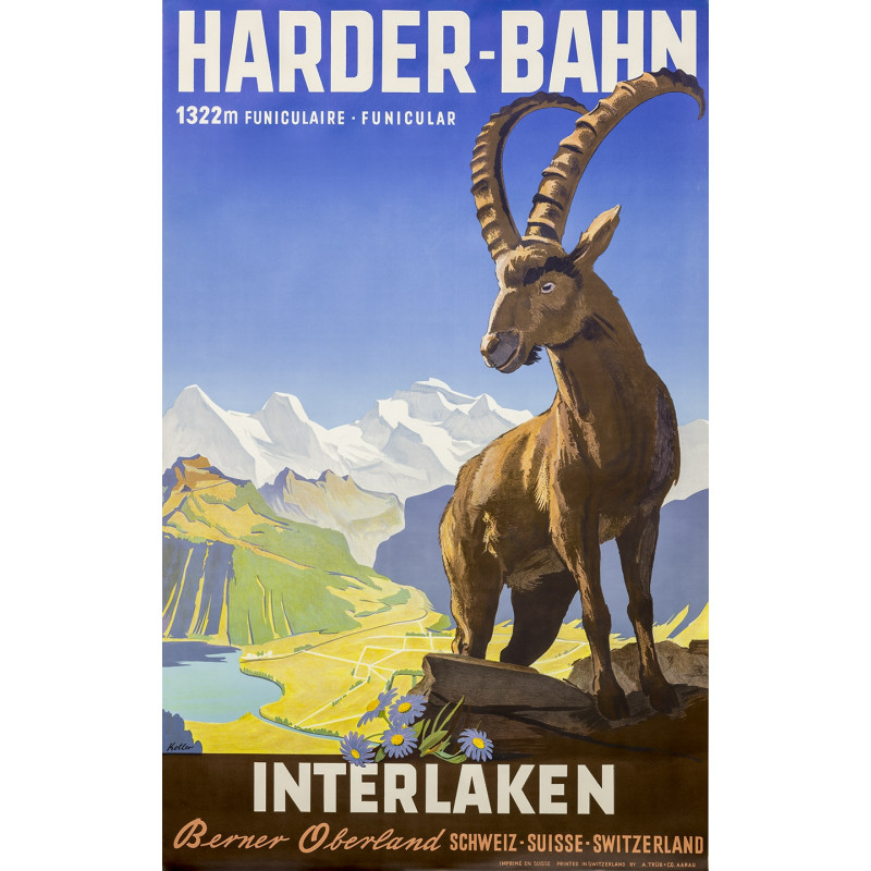 Poster Nostalgique Harderbahn capricorne