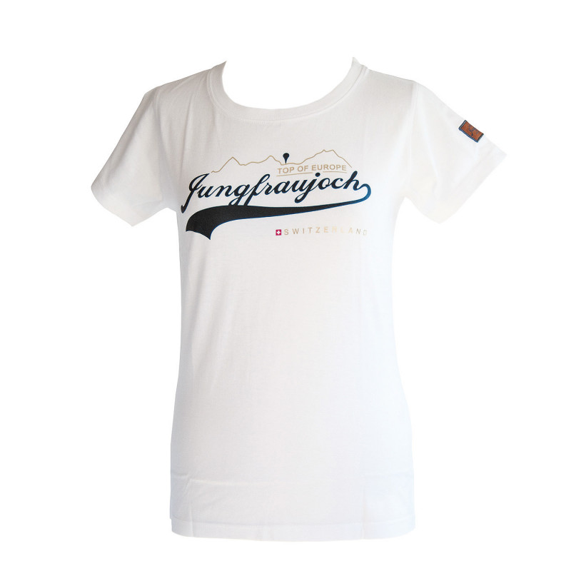 T-Shirt Jungfraujoch Official Collection, femme, blanc/or