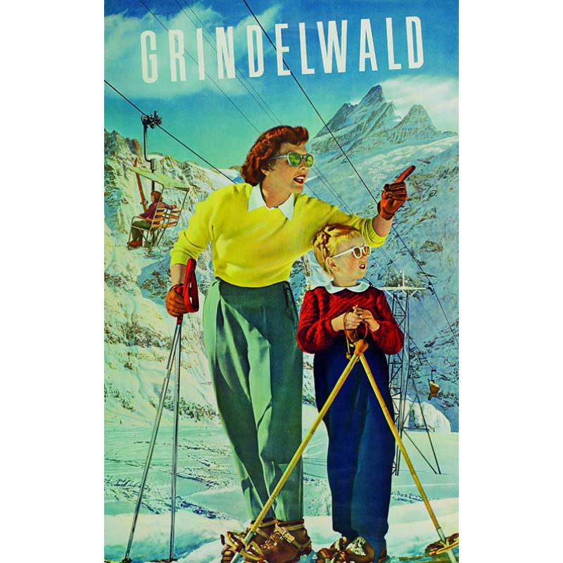 Poster nostalgique Grindelwald-First 3