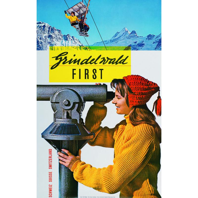 Poster nostalgique Grindelwald-First 2