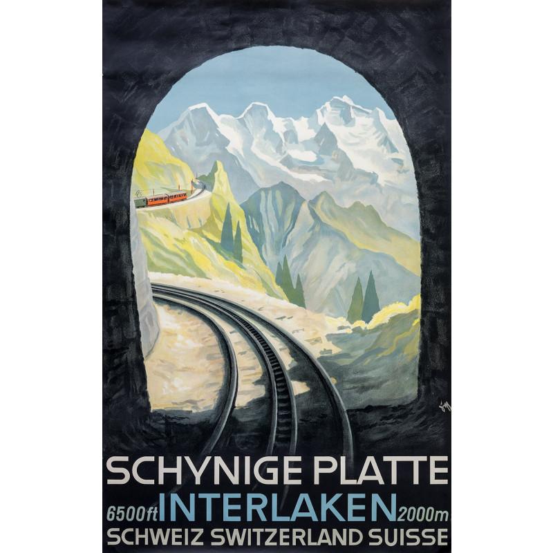 Poster Nostalgique Schynige Platte