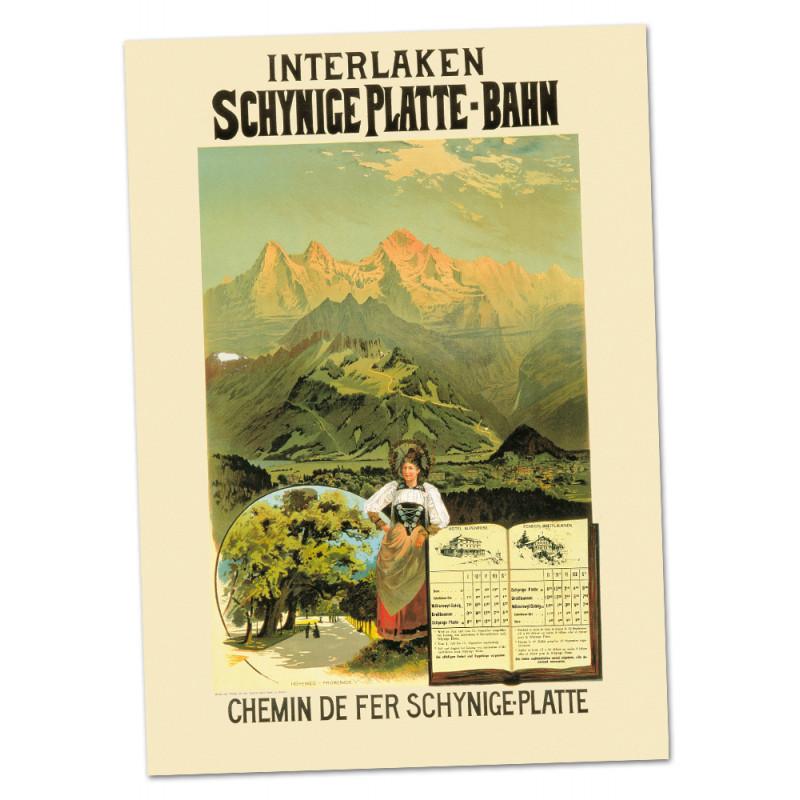 Poster Nostalgique Schynige Platte-Bahn A2