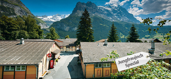 Jungfraujoch Special - 1 night accommodation (double room) at Downtown Lodge Grindelwald, incl. a railway ticket to the Jungfraujoch from CHF 158.00  per person