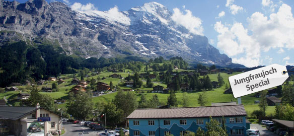 Jungfraujoch-Special: 1 night accommodation at Mountain Hostel (dormitory) Grindelwald - incl. a mountain railway ticket to the Jungfraujoch for CHF 146.- per person